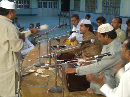 Concierto de qawali en Pakistán. 2008