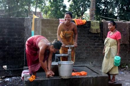Mujeres en un campo de desplazados en Assam, India. 2012