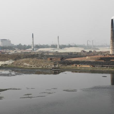 Cinturón industrial de Ashulia en Bangladesh. 2013