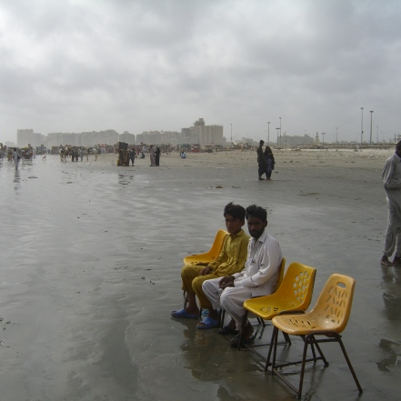 Playa de Clifton en Karachi, Pakistán. 2008