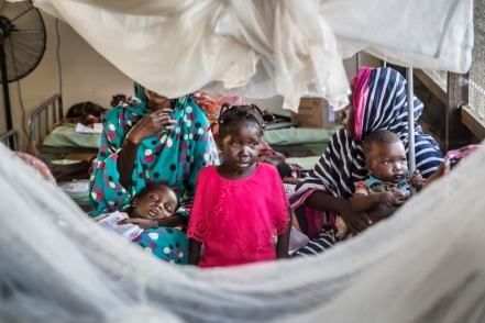Children sick with malaria in one of the wards of the Paediatrics hospital in El Fasher, North Darfur, Sudan.